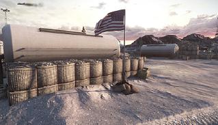 File:Bandar Desert Artillery Base Flag.png