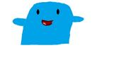 Blue raspberry puppet