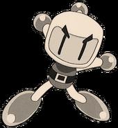 White Bomber Man