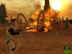 a clone attacking a vehicle in original geonosis map