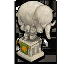 Deco strongman statue icon
