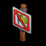 Deco sign no occupy icon~ipad