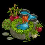 Deco artificial pond icon