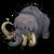 Ancient mammoth icon
