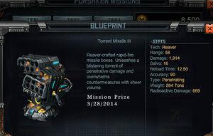 Torrent3 prize
