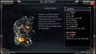 Reaver Meteor mortars