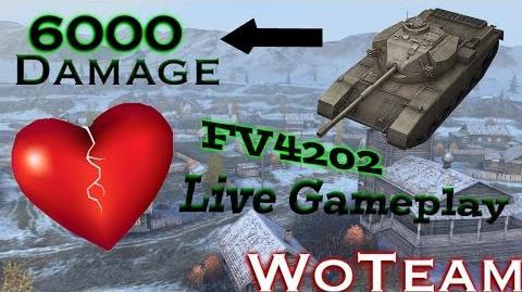 World of Tanks Blitz Live Gameplay FV4202 Action