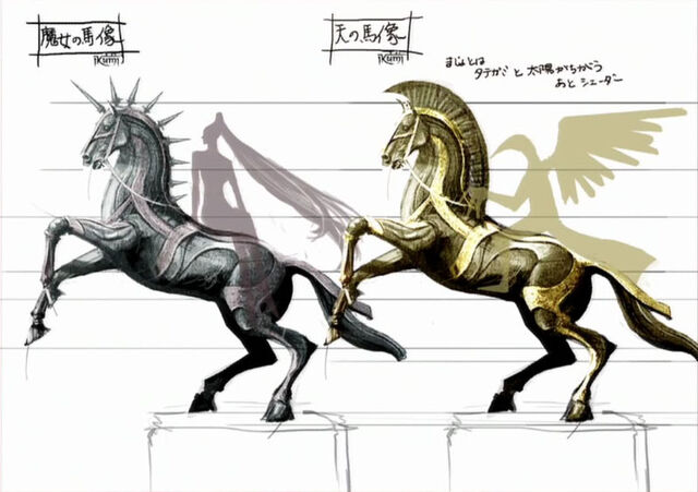 File:Bronze Knight Sage and Witch Statues.jpg