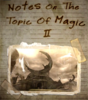 Notes On The Topic Of Magic II