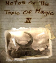 Notes On The Topic Of Magic III