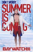 Baywatch Summer Is Coming character Matt poster