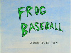 Frog Baseball Title Card