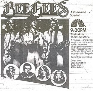 Bee Gees special poster