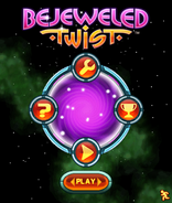 Bejweled Twist Mobile Main Menu