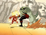 Future Vilgax vs. Future Heatblast