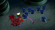 Sunny trashing robots