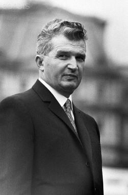 Ceausescu looking suspicious