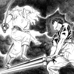 Griffith dueling for ownership of Guts.