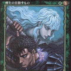 Griffith appears behind Guts and <a href=