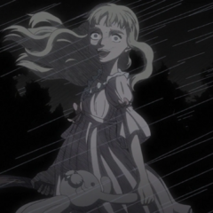 Farnese's mental illness taking hold of her during a storm.