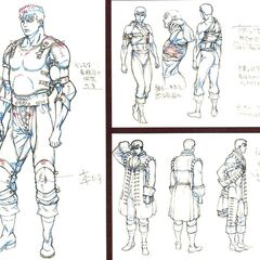 Full body concept sketches of Golden Age era Guts wearing armor, bandages, and his aristocrat outfit during the <a href=