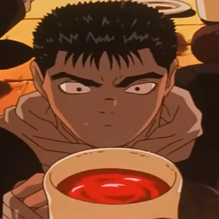 Guts' complaints are silenced (by alcohol).