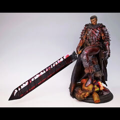 Guts standing over the remains of an apostle statue released by Art of War.