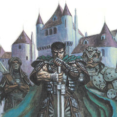 Guts stands in front of <a href=