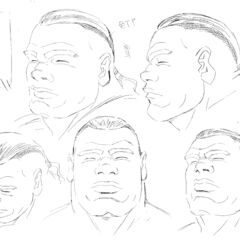 Profile drawings of an older Pippin from various angles for the 1997 anime.