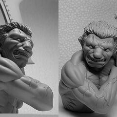 Zodd human form bust released by Dotou No Tonosama.