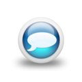 Speech balloon gloss blue 3d icon white.png