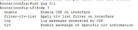 Interface cdp