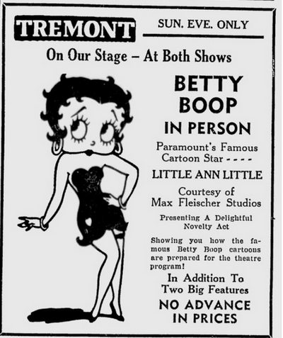 Betty boopadoop in person 1938