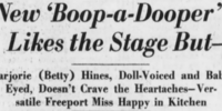 Marjorie (Betty) Hines, Doll-Voiced and Baby-Eyed, Doesn't Crave the Heartaches - Versatile Freeport Miss Happy in Kitchen!