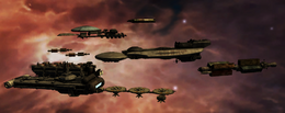 Colonial Fleet in Alpha Ceti System