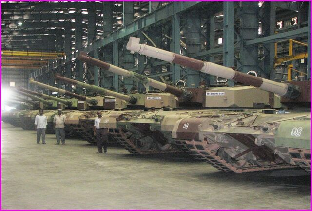 File:Arjun tank assembly line HVF Avadi.jpg