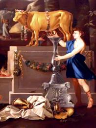 Aaron and golden calf