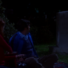 Raj noting the grave of Elizabeth McNulty.