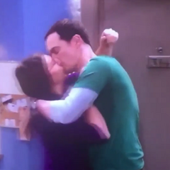 Shamy in a passionate embrace.