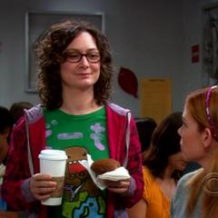 Leslie insulting Sheldon.
