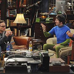 Howard, Raj and Leonard in his apartment.