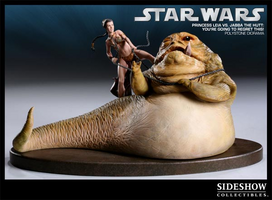 Princess Leia vs. Jabba the Hutt You're Going to Regret This! Polystone Diorama