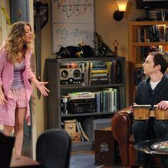 Penny's sleep is disturbed by Sheldon's bongos.