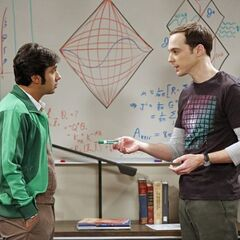 Raj and Sheldon discussing joining the dark matter expedition.
