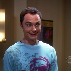 Sheldon's Joker smile.