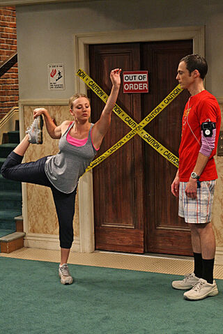 File:Sheldon and Penny Stretching2.jpg