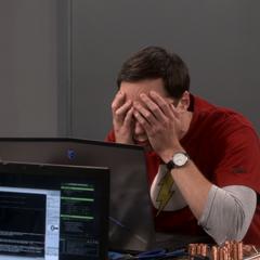 Sheldon has a hangover.