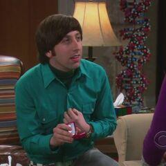 Howard proposing to Bernadette.