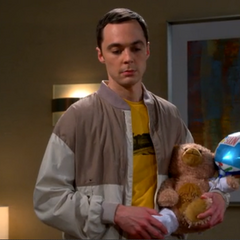 The teddy bear is for Sheldon not Leonard.
