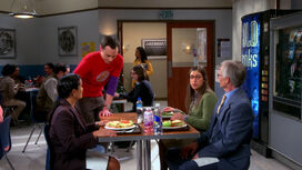Sheldon joining Amy's table